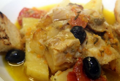 Stockfish cooked as for Ancona recipe