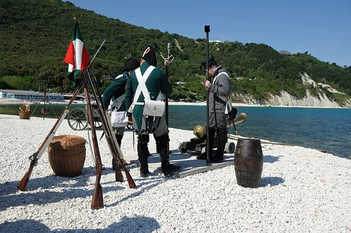 historical Portonovo Battle Commemoration