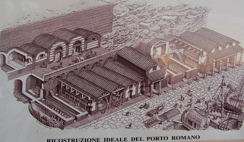 Reconstruction of the Roman port