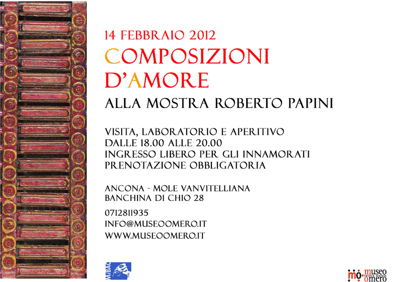 Love Composition on St Valentine's at Roberto Papini Art Exhibition
