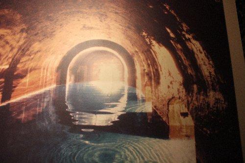 Come doveva essere la Cisterna della Fontana del Calamo con l'acqua