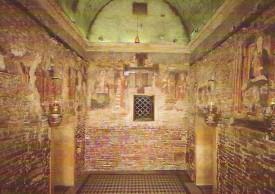 L'interno della Santa Casa di Loreto
